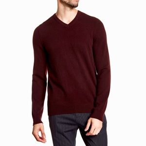 VINCE V-Neck Long Sleeve 100% Cashmere Sweater Lg